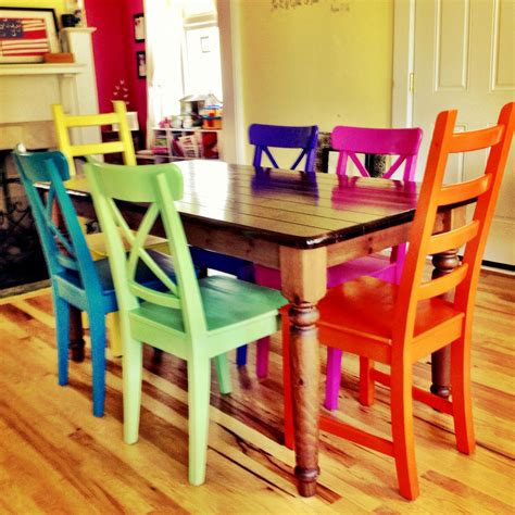 Painted Kitchen Furniture by Rustoleum Spray Painted Chairs These Remind Me Of All