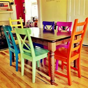 Rustoleum spray painted chairs these remind me of all