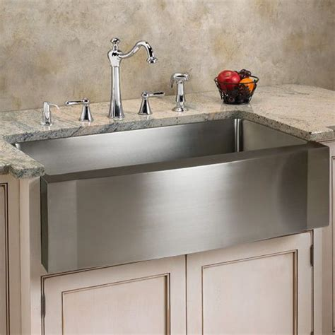 stainless overmount farmhouse sink 33 quot optimum stainless steel farmhouse sink wave front