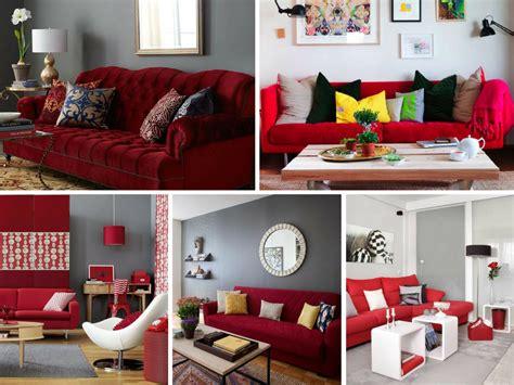 sofa vermelho como decorar decora 231 227 o de sala sof 225 vermelho