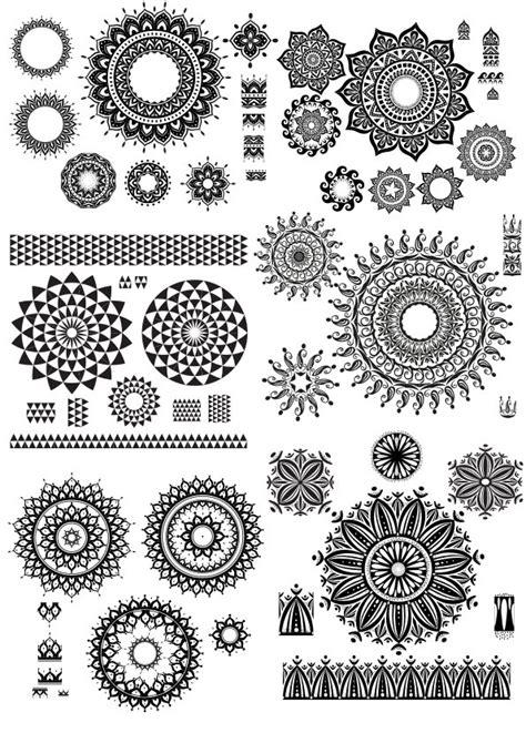 geometric circle design vector art  vector cdr