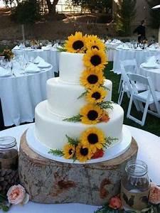 fascinante pastel decorado con girasoles decoraciones