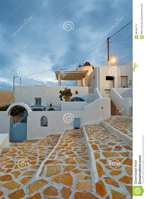 anafi island stock image image  village chora aegean