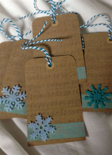 bev s handmade christmas gift tags sting card ideas pinterest