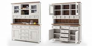 Buffet Weiß Landhaus : buffet highboard wei holz landhaus byron shabby chic ~ Watch28wear.com Haus und Dekorationen