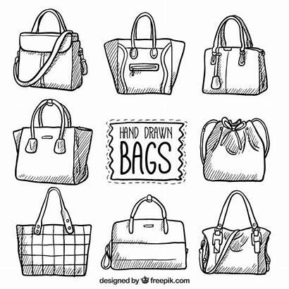 Bag Bags Vector Hand Drawn Clipart Vectors