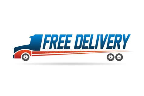 Free Delivery Truck Image Logo Stock Vector - Illustration ...