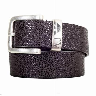 Belt Leather Brown Armani Dark Jeans Buckle
