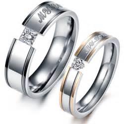 wraps for engagement rings titanium steel promise ring wedding bands matching set yoyoon 10301