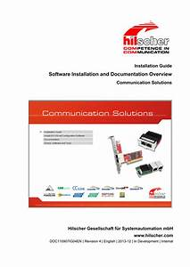 Software Installation And Documentation Overview