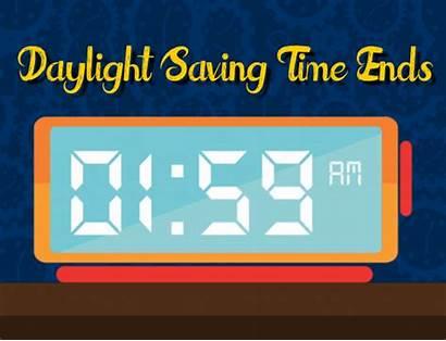 Fall Daylight Ends Saving Change Clock Cards