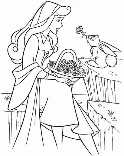 Sleeping Coloring Beauty Pages Printable