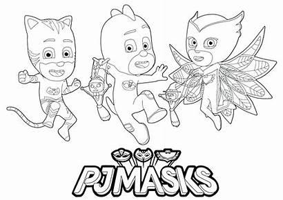Pj Masks Coloring Pages Sheets Mask Children