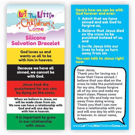 childrens salvation bracelets  handy gifts