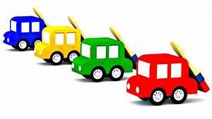Cote Voiture Gratuite Avec Kilometrage : apprendre les couleurs avec les 4 voitures color es youtube ~ Gottalentnigeria.com Avis de Voitures