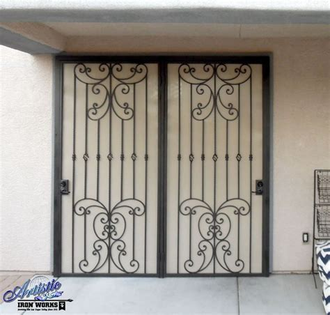 papillion wrought iron security screen door for patio