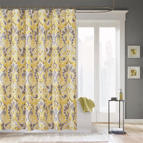 yellow and grey bathroom window curtains yellow and gray curtains decofurnish
