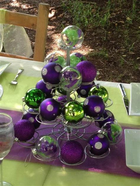 purple  green christmas decorating ideas