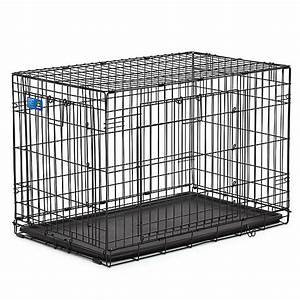 Top pawr double door wire dog crate dog carriers for Petsmart metal dog crate