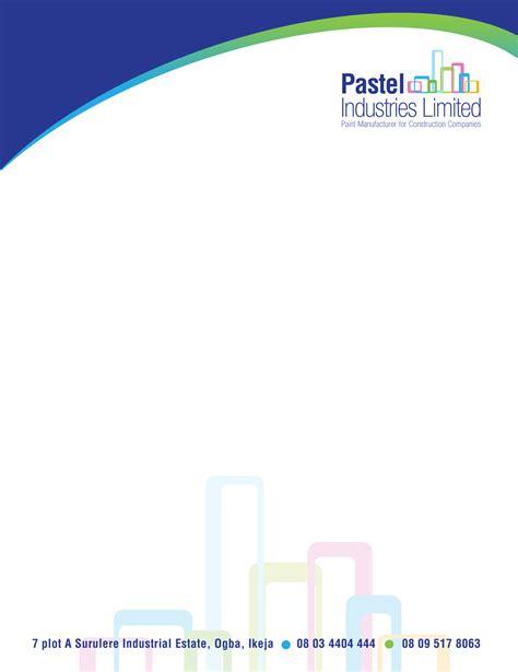 construction letterhead design   company  purple