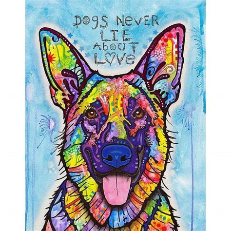 dogs  lie german shepherd wall sticker decal animal