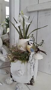 Deko Hauseingang Frühling : holzkistchen mit fr hlings h bsch osterdeko shabby chic kleines schwedenhaus osterdeko ~ Watch28wear.com Haus und Dekorationen