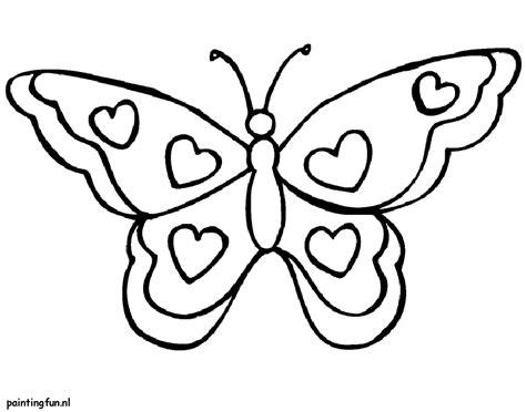 Kleurplaat Vlinder Met Hartjes by Kleurplaat Valenijn En Liefde Vlinder Met Hartjes