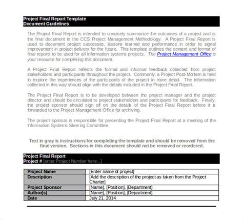 project report templates  word  premium