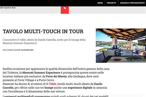 Tavolo Multitouch by Interni Tavolo Multi Touch In Tour D Table
