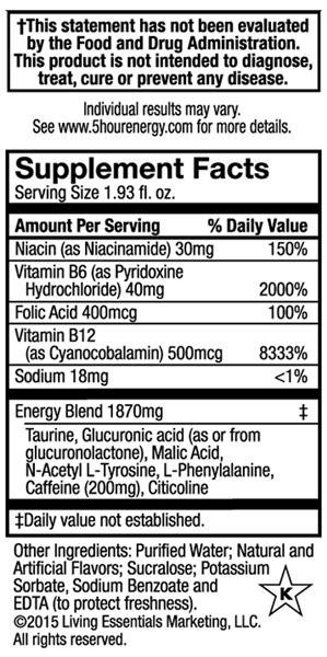 hour energy berry  oz resnick distributors