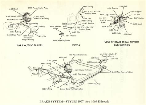 cadillac eldorado brake system group