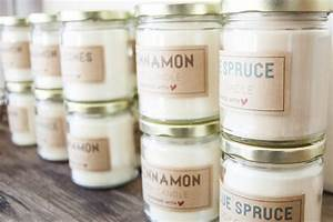 tutorial soy wax candles plus a free label printable With candle label ideas
