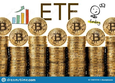 A bitcoin etf mimics the price of the digital currency, allowing investors to buy into the etf without trading bitcoin itself. Concept Of Bitcoin ETF Exchange Traded Fund, Stock Image - Image of cryptocurrency, banking ...