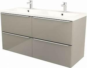 plan double vasque quotmilaquot l 1204 x h 124 x p 452 With double vasque salle de bain brico depot