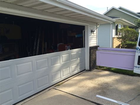 repair broken garage door panels same day garage door