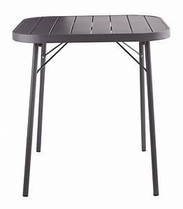 Table Pliante Metal : table pliante de jardin en m tal gris ardoise l 70 cm ~ Teatrodelosmanantiales.com Idées de Décoration