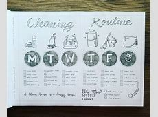 11 Bullet Journal Cleaning Schedules Mommy is a Wino