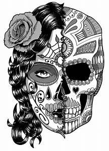 Crane Mexicain Dessin : coloriage silhouette femme recherche google dovme pinterest coloriage tete de mort fille ~ Melissatoandfro.com Idées de Décoration