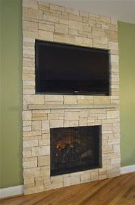 stone veneer fireplace tv niche contemporary family With stone veneer fireplace for renovation