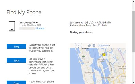 find my cell phone how to use find my phone on windows 10 mobile