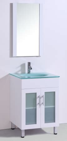 24 Inch Single Sink Bathroom Vanity in White with a
