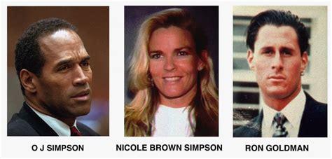 oj simpsons  wife nicole brown  ron goldman