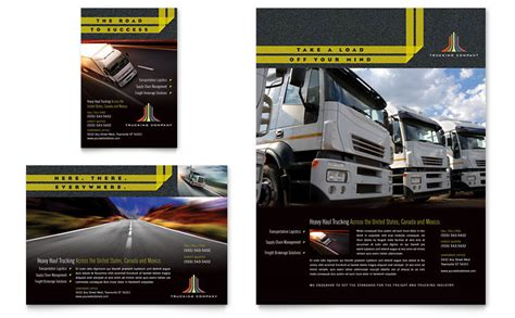 trucking transport flyer ad template word publisher