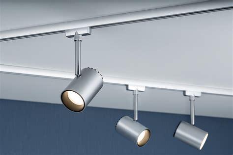 eclairage sur rail plafond eclairage tableau eclairage sur rail plafond led spot shine 5w paulmann