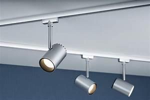 Rail De Spot : eclairage tableau eclairage sur rail plafond led spot shine 5w paulmann ~ Dallasstarsshop.com Idées de Décoration