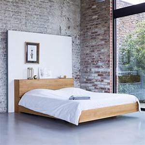 Bett Mit Ablagefläche : bett aus teak 160x200 verkauf von betten aus massivteak flat bei tikamoon ~ Indierocktalk.com Haus und Dekorationen