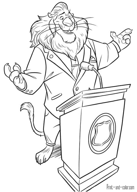 zootopia coloring pages print  colorcom