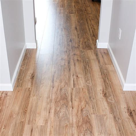 Trafficmaster Glueless Laminate Flooring Lakeshore Pecan by Project House Update 1 Moved In Happy