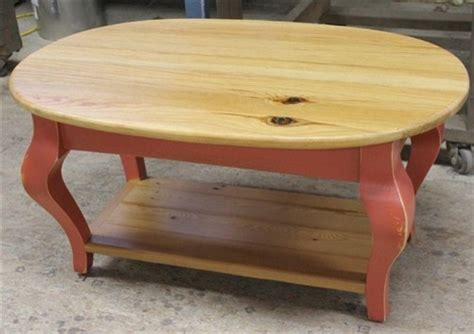 Oval Coffee Table From Reclaimed Pine
