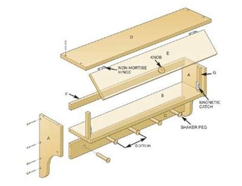 coat rack shelf plans   build  shelf